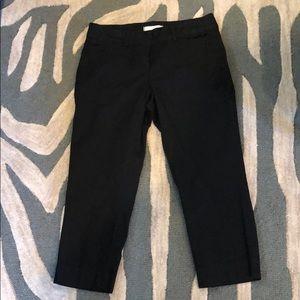 Anne Taylor Loft Black Capri Pants size 4 EUC